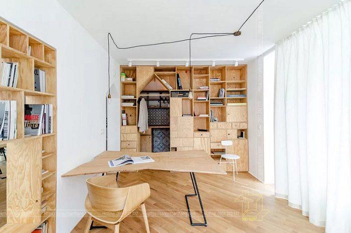 Phong cách nội thất 100%  gỗ Plywood