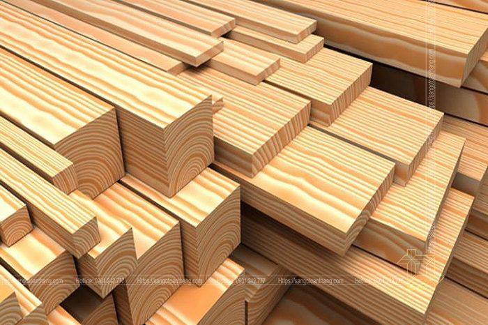Vân gỗ thông rất bắt mắt