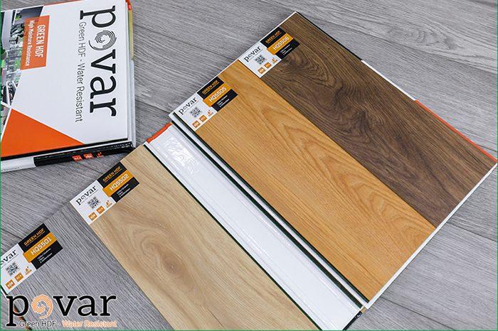 Sàn gỗ Povar rất nhiều màu đẹp