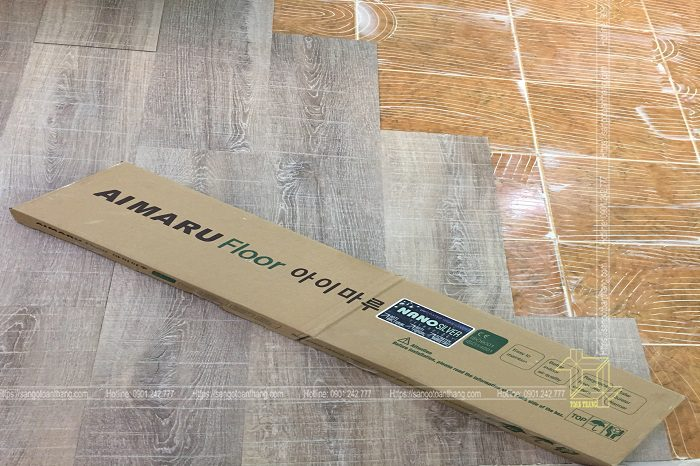 Sàn nhựa vân gỗ dán keo riêng