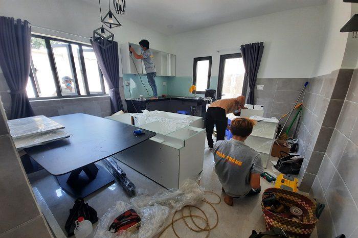 Toàn Thắng thi công tủ bếp gỗ MDF cho Căn hộ tại Thủ Đức