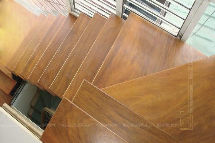 Mặt bậc cầu thang gỗ Lim Nam Phi