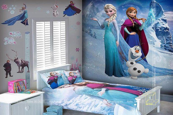 Tranh dán tường theo yêu cầu - thỏa thích ước mơ cho trẻ nhỏ