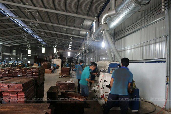 Quá trình sản xuất sàn gỗ tự nhiên bằng dây chuyển khép kín