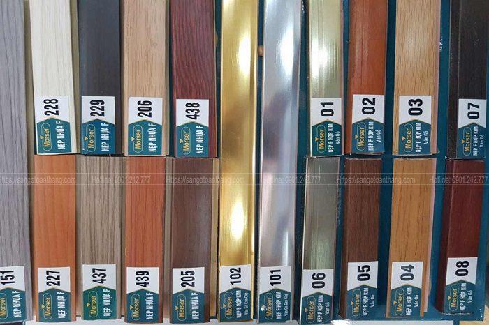 Nẹp hợp kim và nẹp nhựa vân gỗ