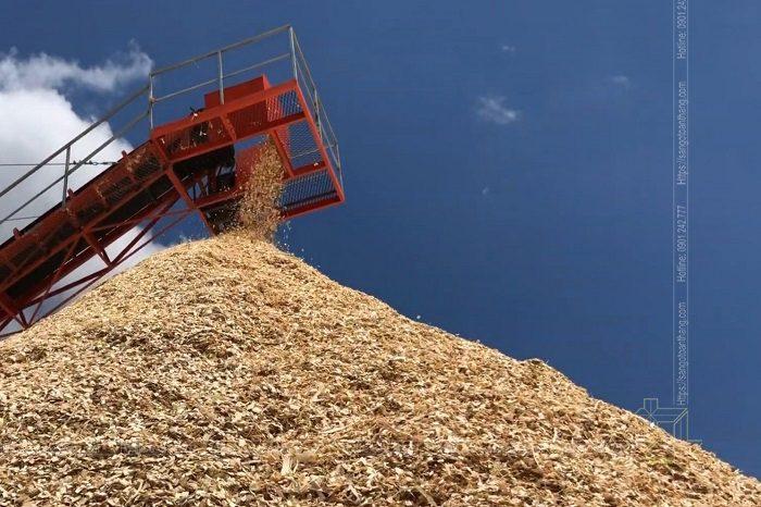 Quá trình xay dăm gỗ bước sơ chế