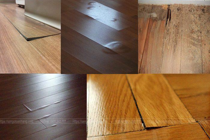 Sàn gỗ bị hư hỏng nếu không được bảo quản tốt