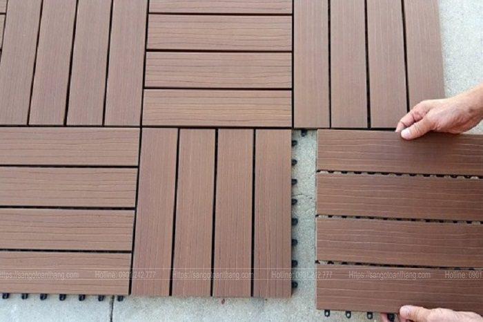 Vĩ gỗ nhựa lót sàn rất dễ thi công cho những người không phải là thợ chuyên nghiệp
