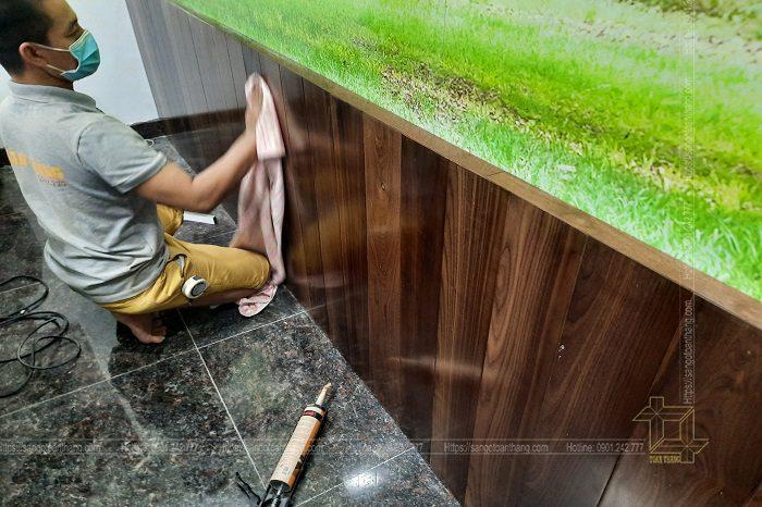 Ốp Lamri gỗ ngày càng không thể thiếu trong các căn hộ sang trọng