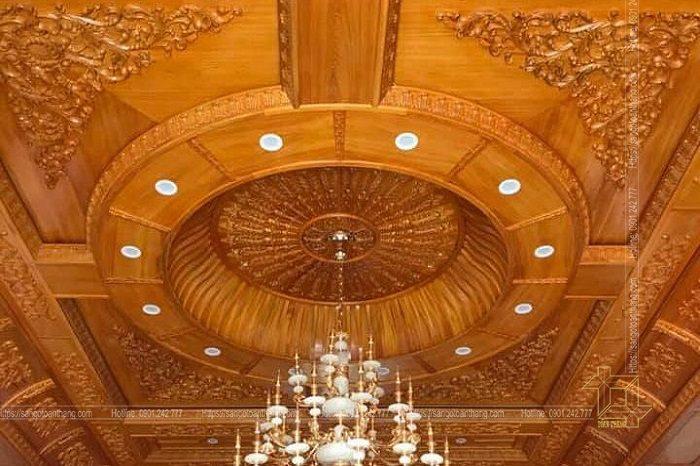 Mẫu trần gỗ tự nhiên số 16