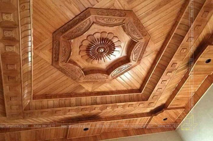 Mẫu trần gỗ tự nhiên số 17