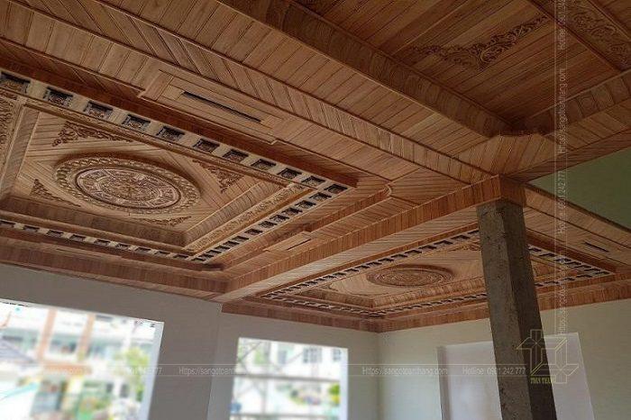 Mẫu trần gỗ mẫu mã hiện đại rất tinh tế đẹp mắt